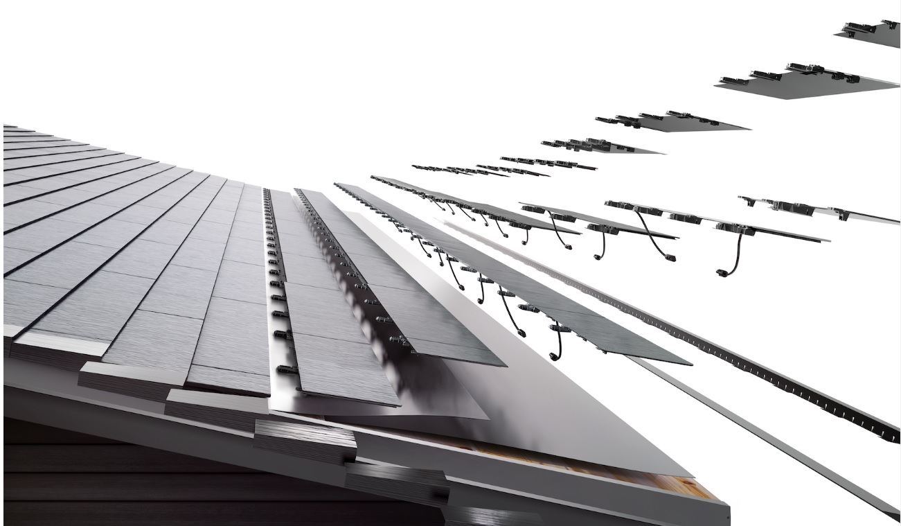 Tesla has also been using Gigafactory 2 for assembly of its third generation of solar roof tiles that was said by the company to be ramping to volume production at the end of 2019. Image: Tesla