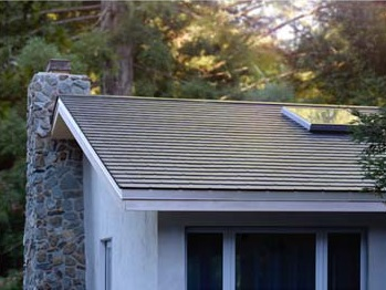 First pictures of slate design solar tiles from Tesla. Image: Tesla