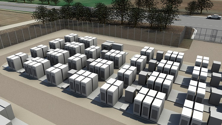 Tesla Powerpack energy storage units. Tesla's 100MW / 129MWh South Australia project will be one recipient of cash from the Renewable Technology Fund. Image: Tesla.