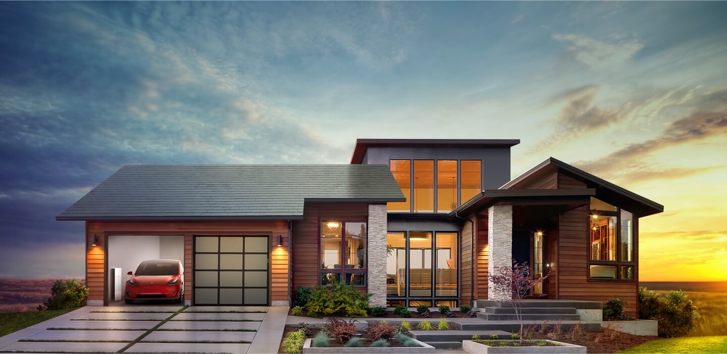Tesla is aiming for the luxury residential market and RGS the mainstream conventional shingled home market. Image: Tesla