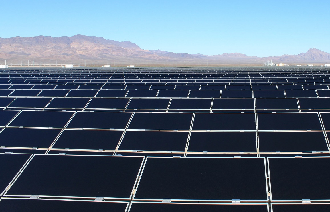 The Copper Mountain solar project in Nevada features BOS products from Shoals. Image: Sempra US Gas & Power.