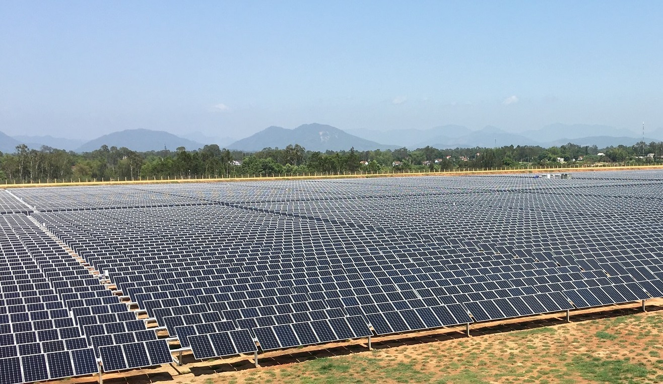The Mo Duc Solar project in Quang Ngai Province, Vietnam. Image: FTC Solar.