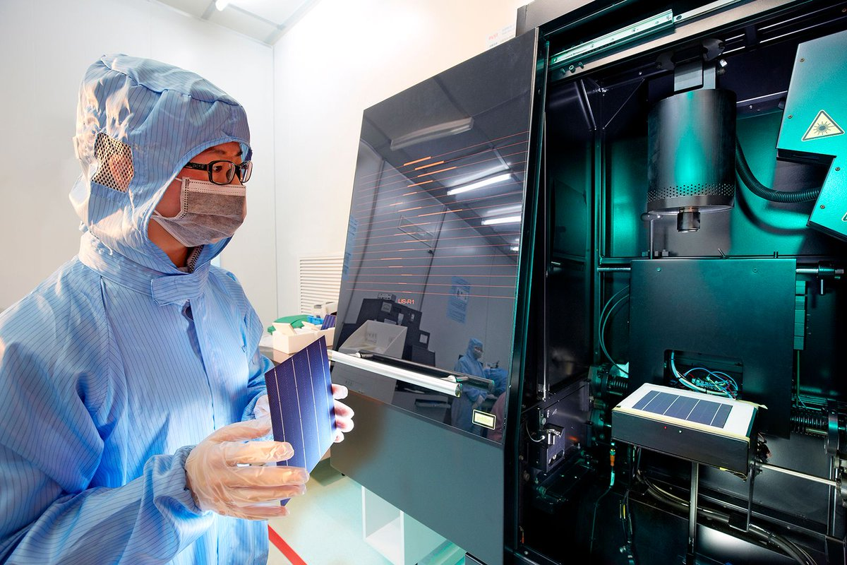 The record cell was fabricated at Trina Solar's State Key Laboratory (SKL) of PV Science and Technology (PVST) and independently confirmed by the ISFH CalTeC in Germany. Image: Trina Solar