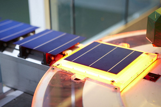 Trina cell manufacturing. The company has chosen Andhra Pradesh as the location for a new Indian manufacturing base. Image: Trina Solar.