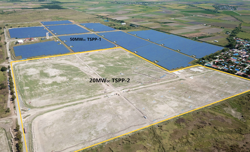 The project is being built on 22 hectares in Central Technopark, Tarlac City. Credit: PetroSolar