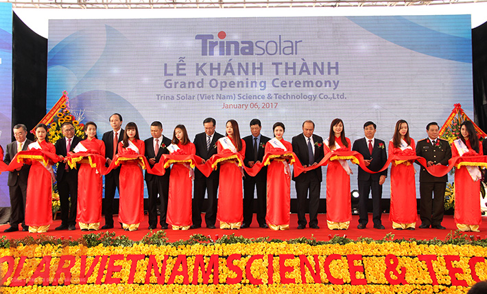 Trina Solar's PV manufacturing plant in Bac Giang, Vietnam. Credit: Bac Giang government