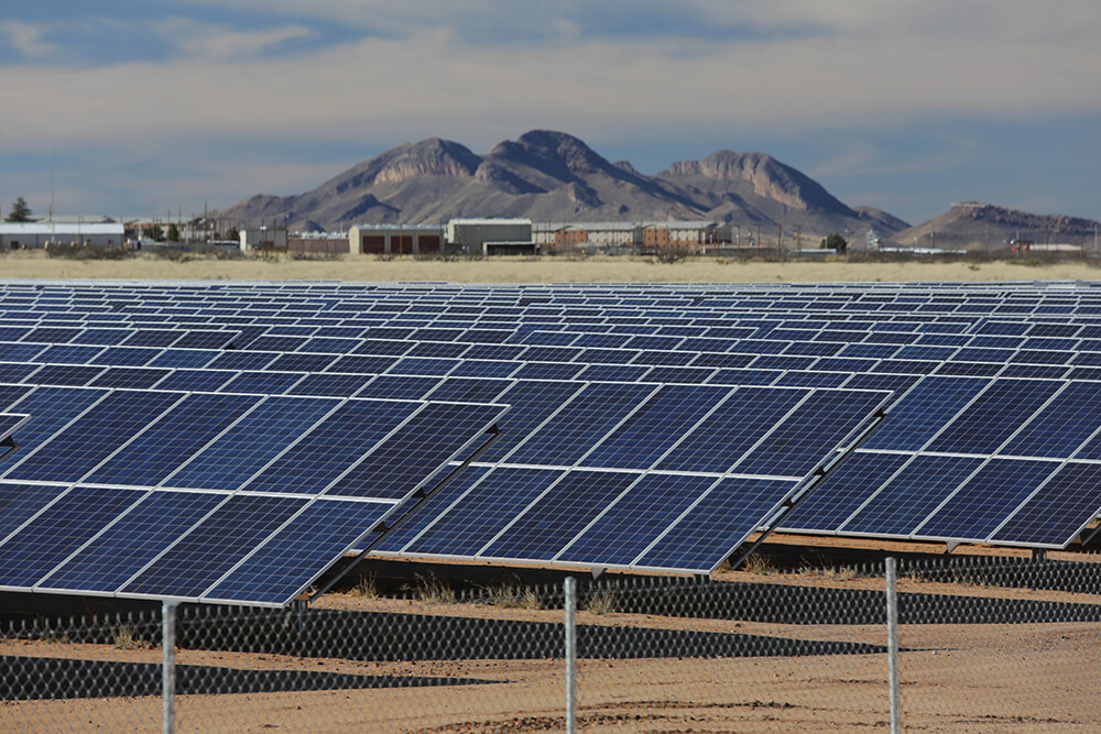 An existing solar array of TEP's at the US Army's Fort Huachuca base in Arizona. Image: TEP.