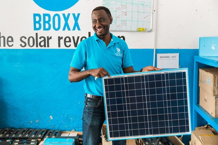 As part of this partnership, BBOXX has already deployed the first of GE's Hybrid Distributed Power (HDP) systems in the city of Goma. Image: Twitter - BBOXX