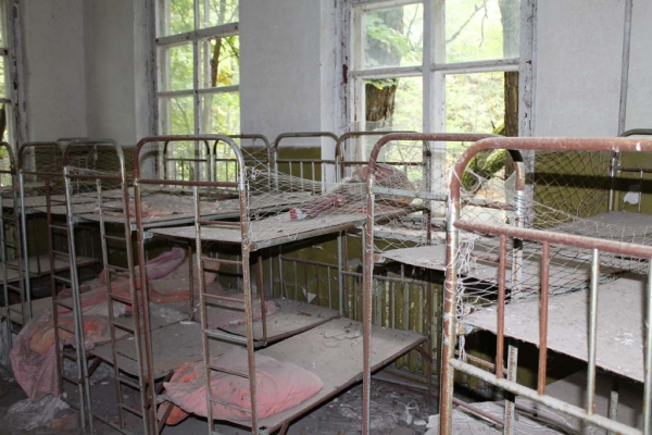 Beds at the same kindergarten, not slept in for over 27 years.
