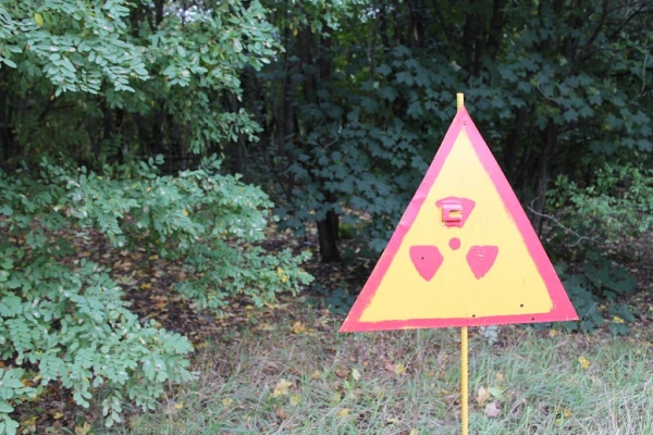 Reminders of the invisible dangers of Chernobyl are prominent features of the exclusion zone.