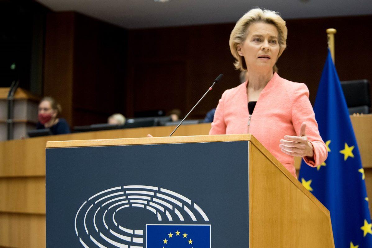 The target was announced by European Commission president Ursula von der Leyen. Image: European Union.