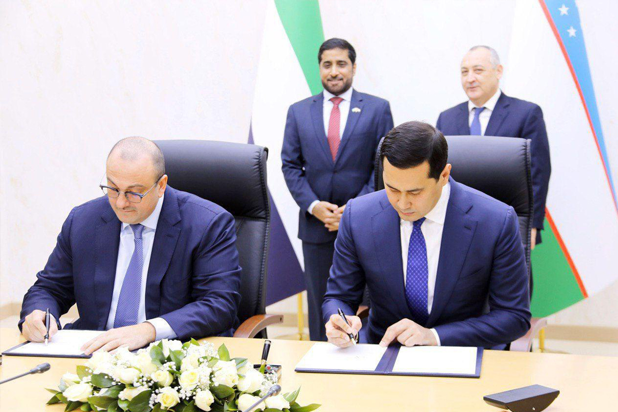 The PPA inked in capital Tashkent commits Masdar to designing, financing, building and running the 100MW project in the Navoiy region (image credit: Masdar)
