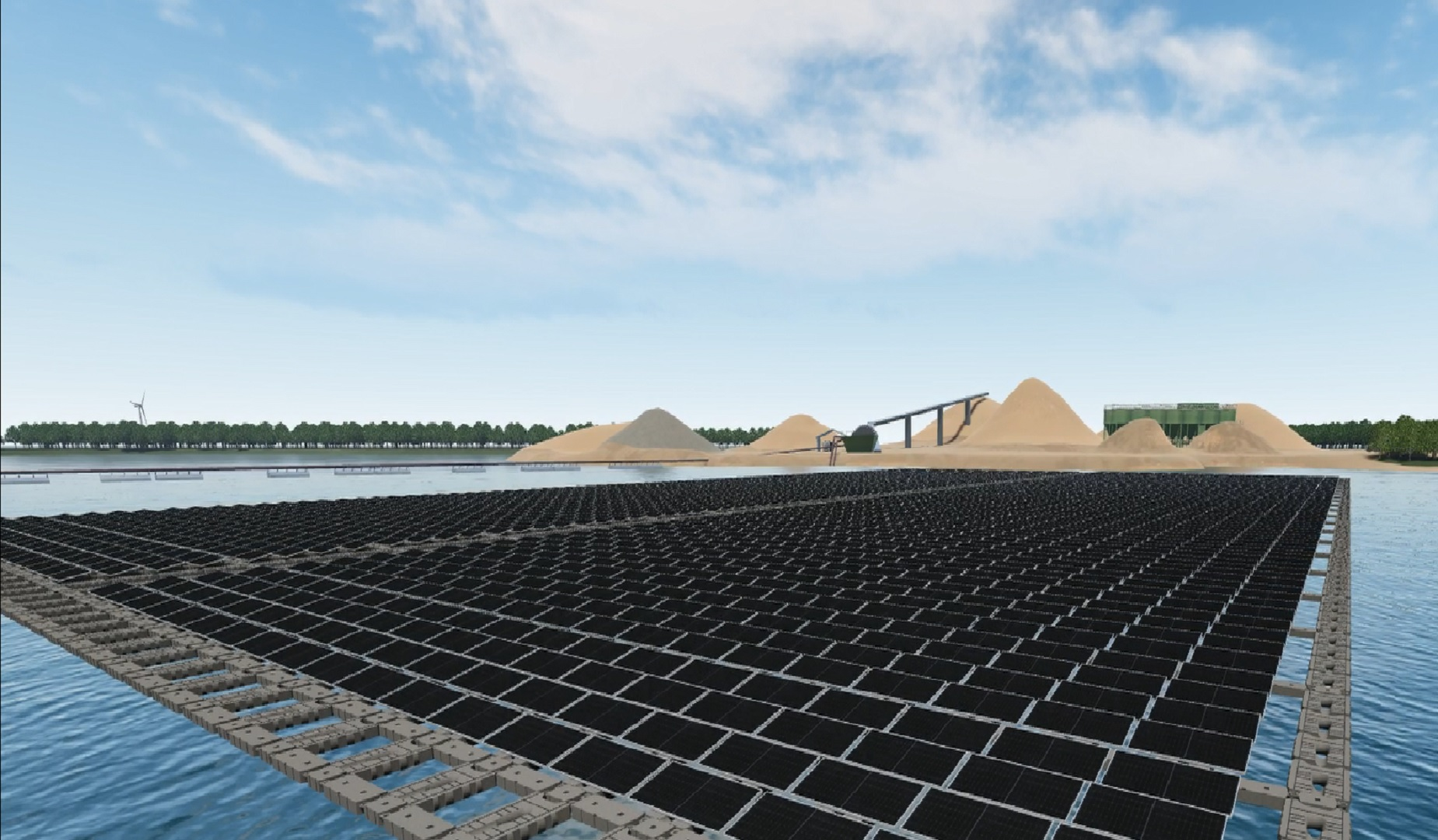 For Vattenfall, the issuance of its second ever green bond follows a move to deploy its first ever floating PV plant in the Netherlands. Image credit: Vattenfall