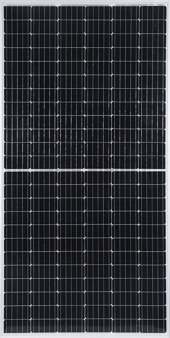 Vikram Solar is showcasing its new high-density panel technology that is engineered to generate more power from advanced mono-PERC half-cells to achieve better LCOE. Image: Vikram Solar