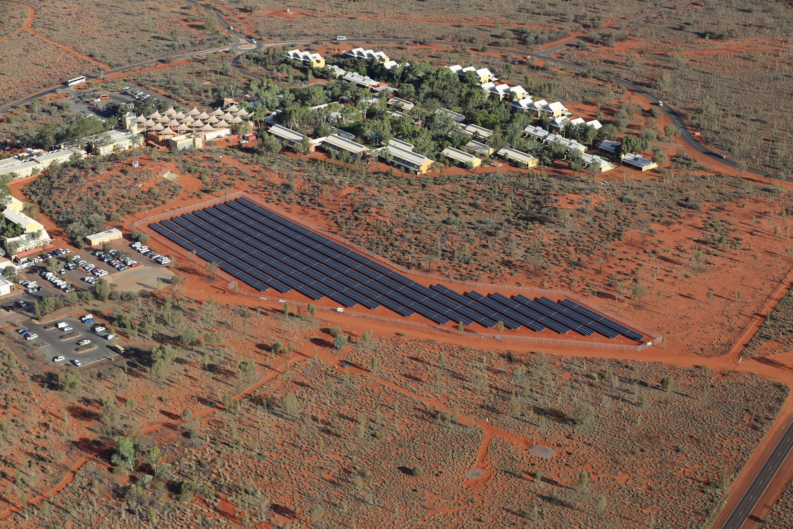 Epuron has commissioned a 1.8MW PV system at the Ayers Rock Resort near Uluru. Credit: Ayers Rock