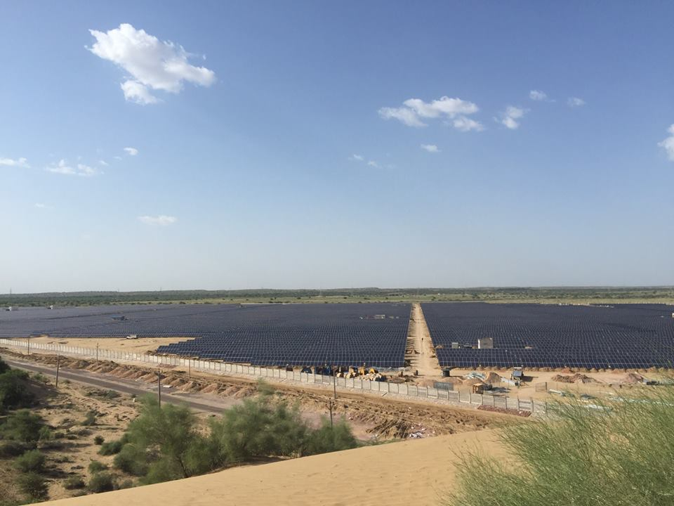 This year Waaree Energies has already commissioned a 27.5MW Solar Project for Roha Dyechem at Bhadla Solar Park. Credit: Waaree