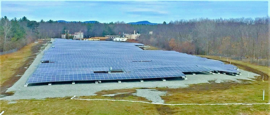 The largest installation — a 5MW PV project — was completed as part of an agreement with owner Captona Partners at the closed Hudson/Stow landfill. Image: Waste Management