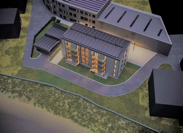 The modular, energy efficient homes will also incorporate BIPV solar solutions. Credit: Welink