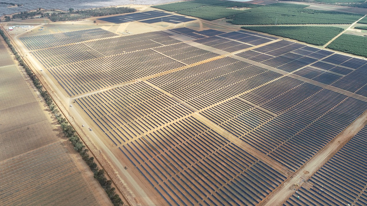 The Wemen Solar Farm is one of the largest PV projects in Victoria. Credit: Wirsol