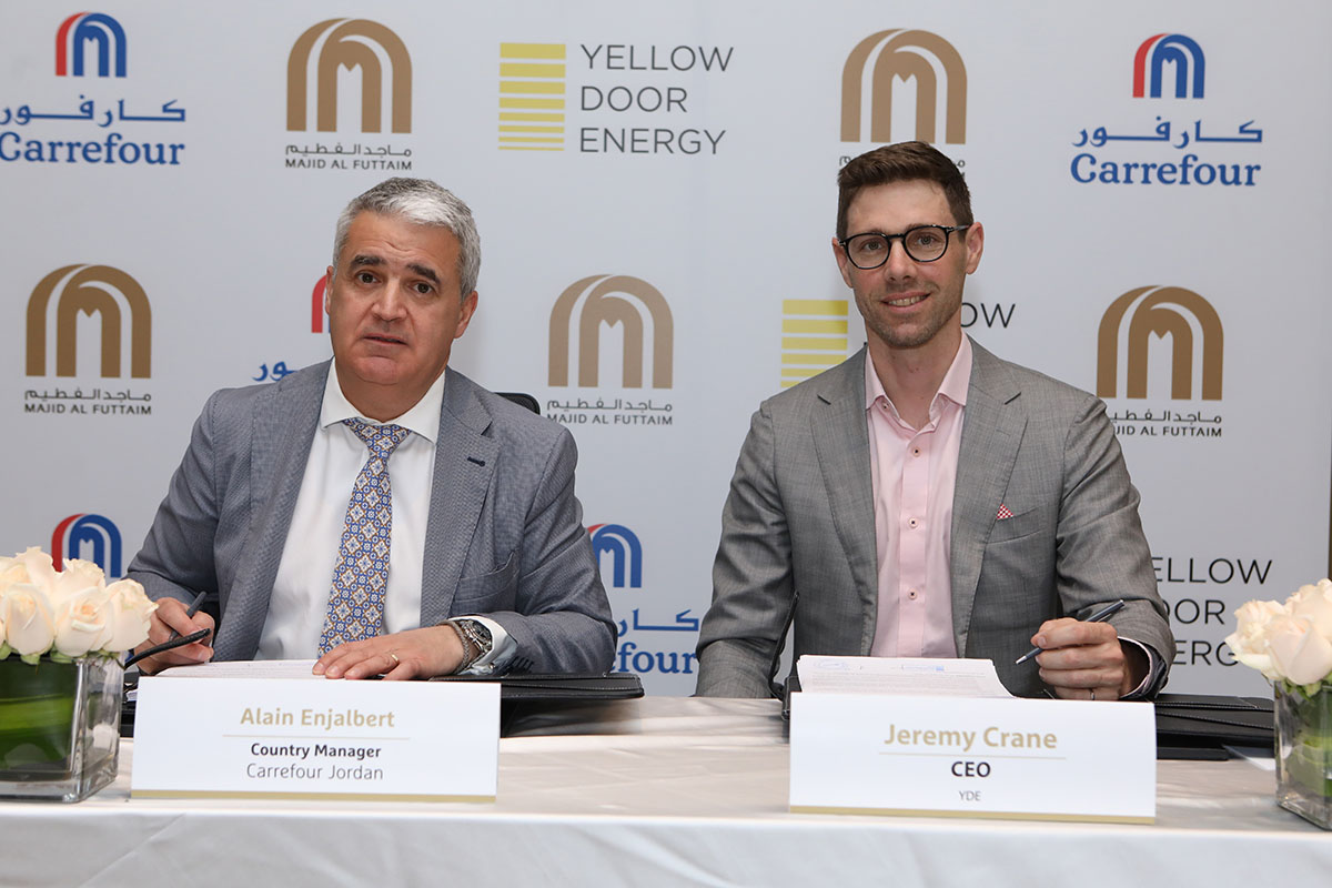 The 17MW build-own-operate-transfer (BOOT) wheeling agreement will give Carrefour stores located in Amman, Zarqa, Madaba and Al-Salt approximately 29 GWh of clean energy in the first year of operation. Image: Yellow Door Energy