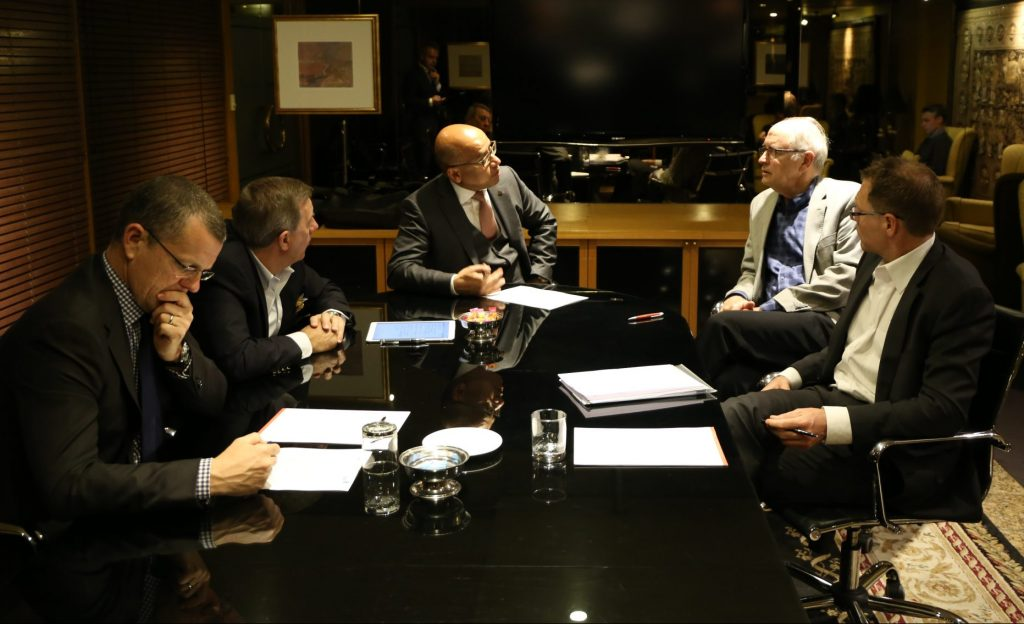 ZEN Energy's board meets. Sanjeev Gupta in centre. Image: ZEN / GFG Alliance.