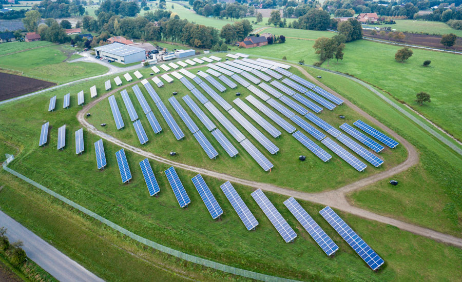 abakus solar's open-air power plant of the administrative district in Rietberg. Source: abakus solar