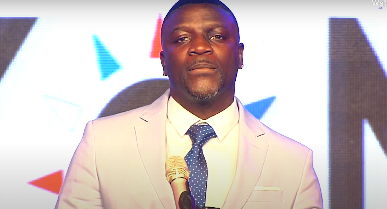 Akon speaking at the Clean Energy America Inargural Ball on 20 January. Image: Orbital Solar Services