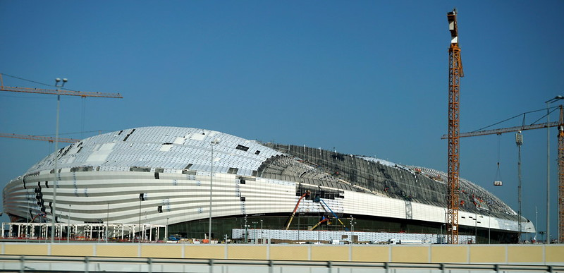 The Al Wakrah Stadium in Doha, being built in preparation for the 2022 Fifa World Cup. Photo: Flickr, Matt Kieffer