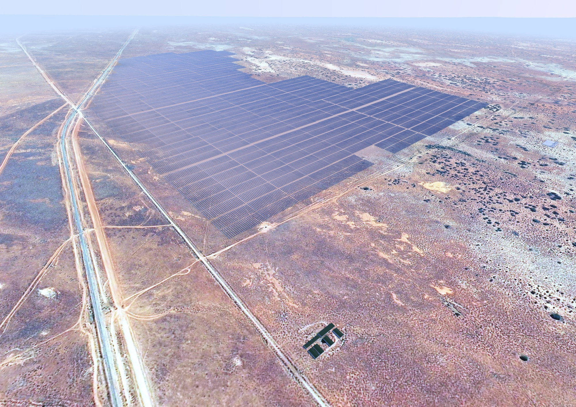 Construction has started on the first part of the Bungala Solar PV Project, whose capacity will total more than 275.4MW on completion. Credit: Enel