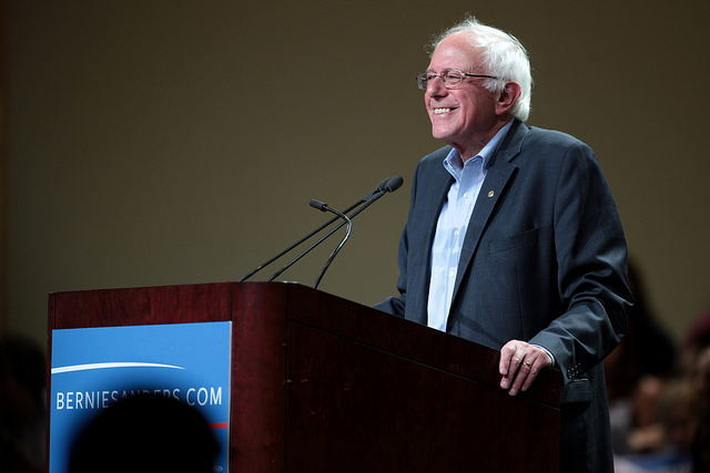 Sanders (pictured) and Hillary Clinton have both condemned recent solar policy changes in Nevada. Image: Flickr user: gage skldmore.
