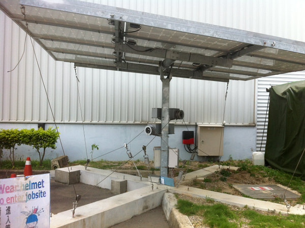 'iPV Solar Tracker' that is differentiated by using a steel cable drive mechanism.