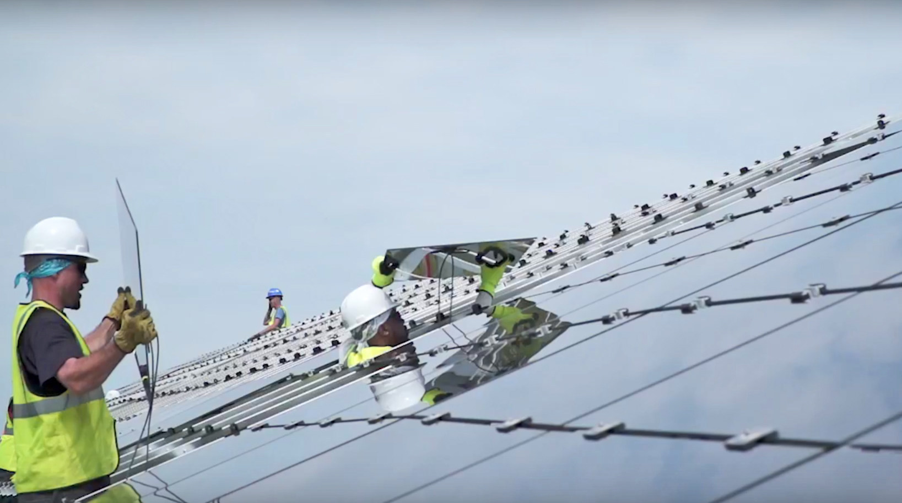 Conti provided EPC services for the 4MW landfill solar project in Cuyahoga County, Ohio. Source: Conti Solar.