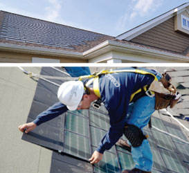 US-based PV installer RGS Energy has struck an exclusive deal with Dow Chemical to exclusively sell its third generation (3.0) solar shingles under the 'POWERHOUSE' brand said to use conventional crystalline silicon solar cells rather than the original CIGS (Copper, Indium, Gallium, Selenide) thin-film substrates. Image Dow Chemical