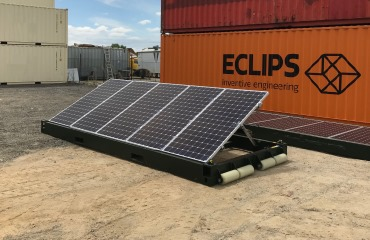 The system will come in two configurations, 20ft and 40ft, 2,175W and 4,350W. Source: ECLIPS Engineering.