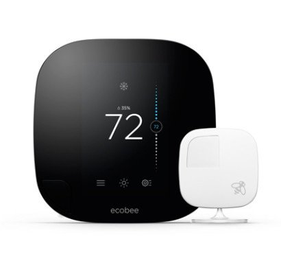 ecobee 3 is capable of monitoring temperatures in every room of a household by using room sensors. Credit: ecobee3