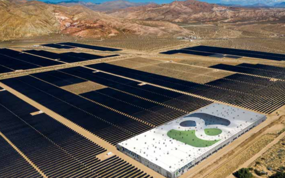 8minute Solar Energy's ELand Solar & Storage Center in the Mojave Desert. Image: 8minute Solar Energy.