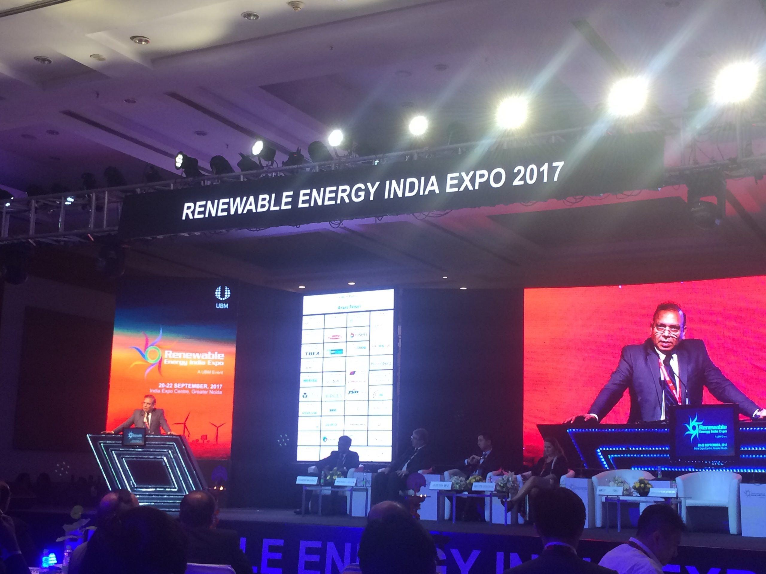 MNRE secretary Anand Kumar opens REI Expo with strong words in favour of local manufacturing. Credit: Tom Kenning