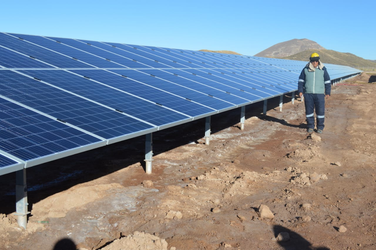 The two-stage 100MW Oruro solar PV project is being described as Bolivia's largest to date (Credit: Bolivian government)