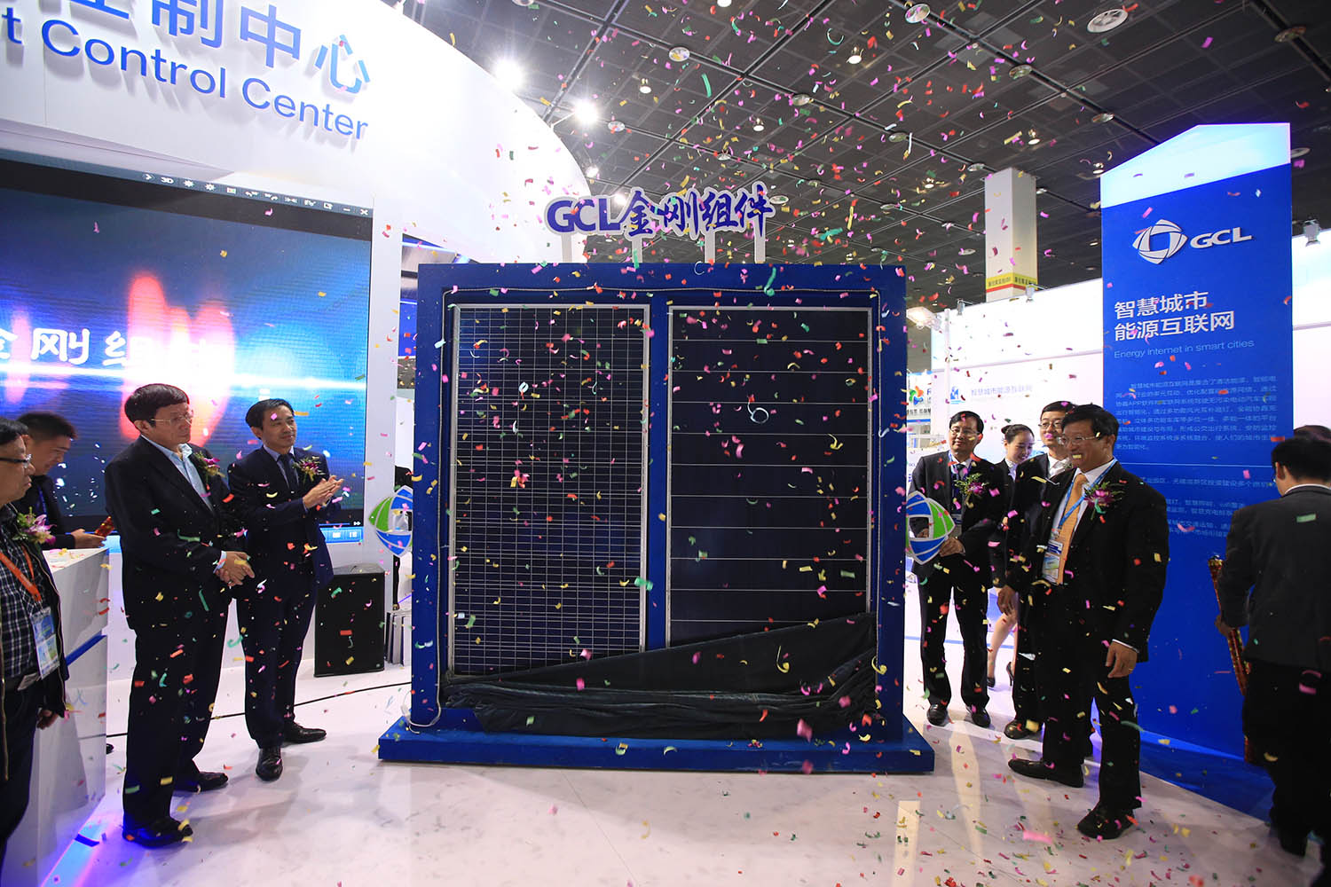 The company is showcasing both 'black silicon' multicrystalline modules and its latest mono PERC offerings and dual-glass products as well as energy storage systems at Intersolar Europe. Image: GCL-SI