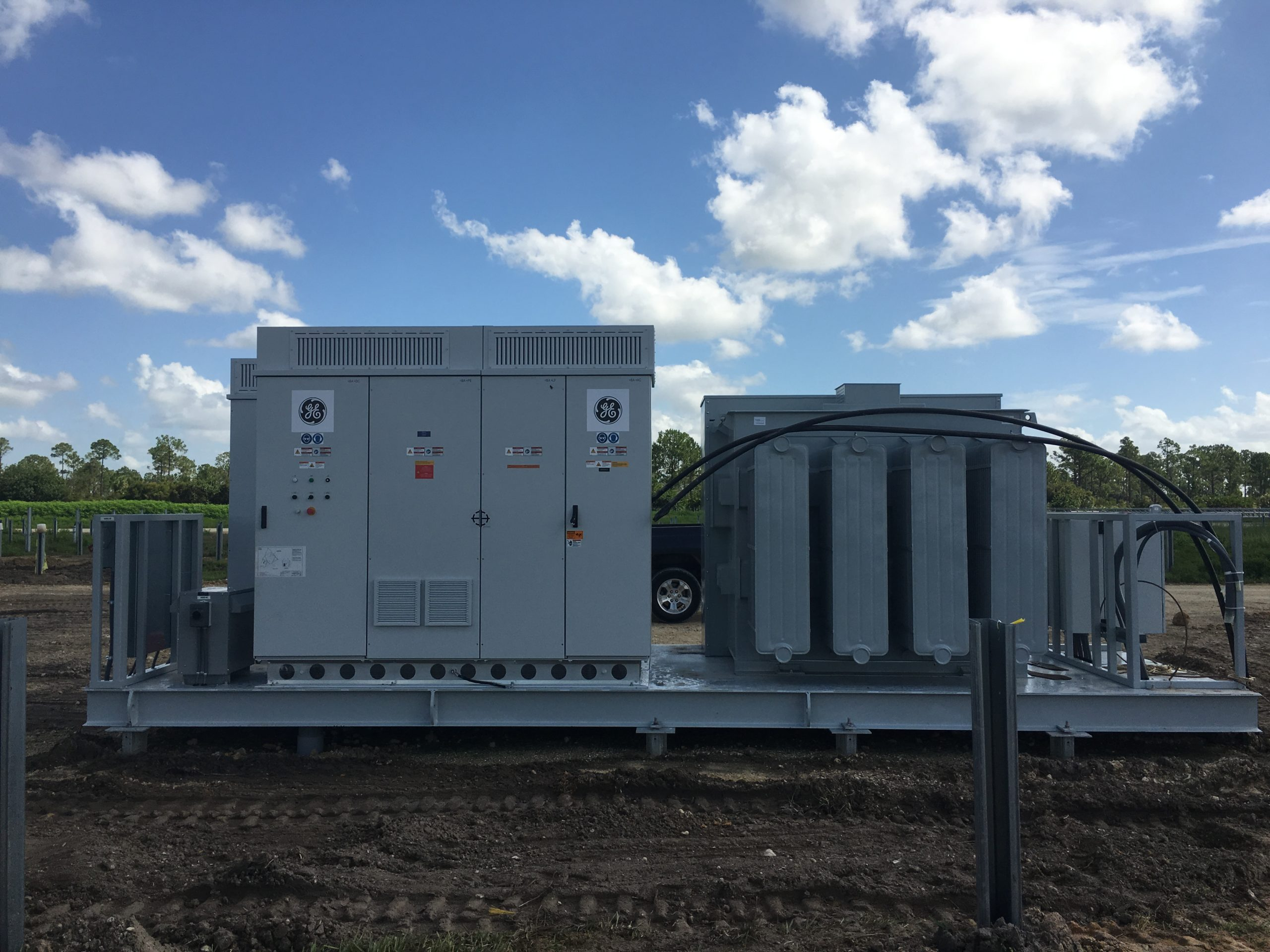 GE's LV5+ Solar Inverter has an efficiency rating of 99% weighted EU which allows for higher annual energy production, when compared to today's traditional inverters. Image: GE Energy