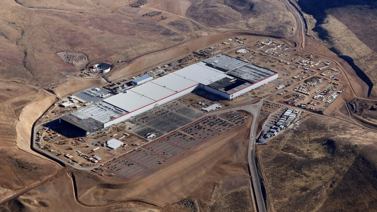 The Nevada Gigafactory, which Tesla says is so far only 30% of the final size it could reach by 2020. Image: Tesla