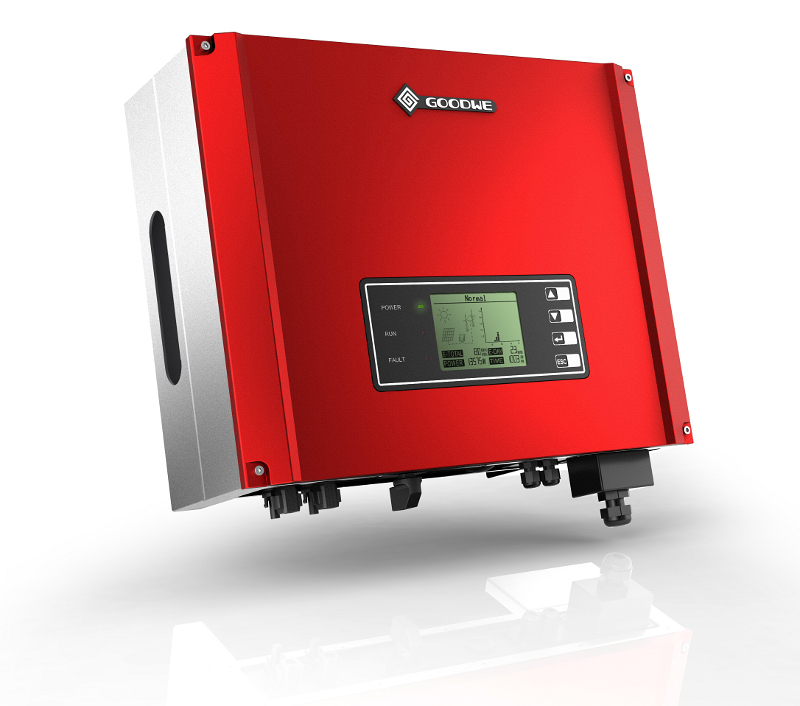 GoodWe Smart DT 8-10kW models provide three phase AC output, making system connections for larger homes and small businesses well balanced. Image: GoodWe