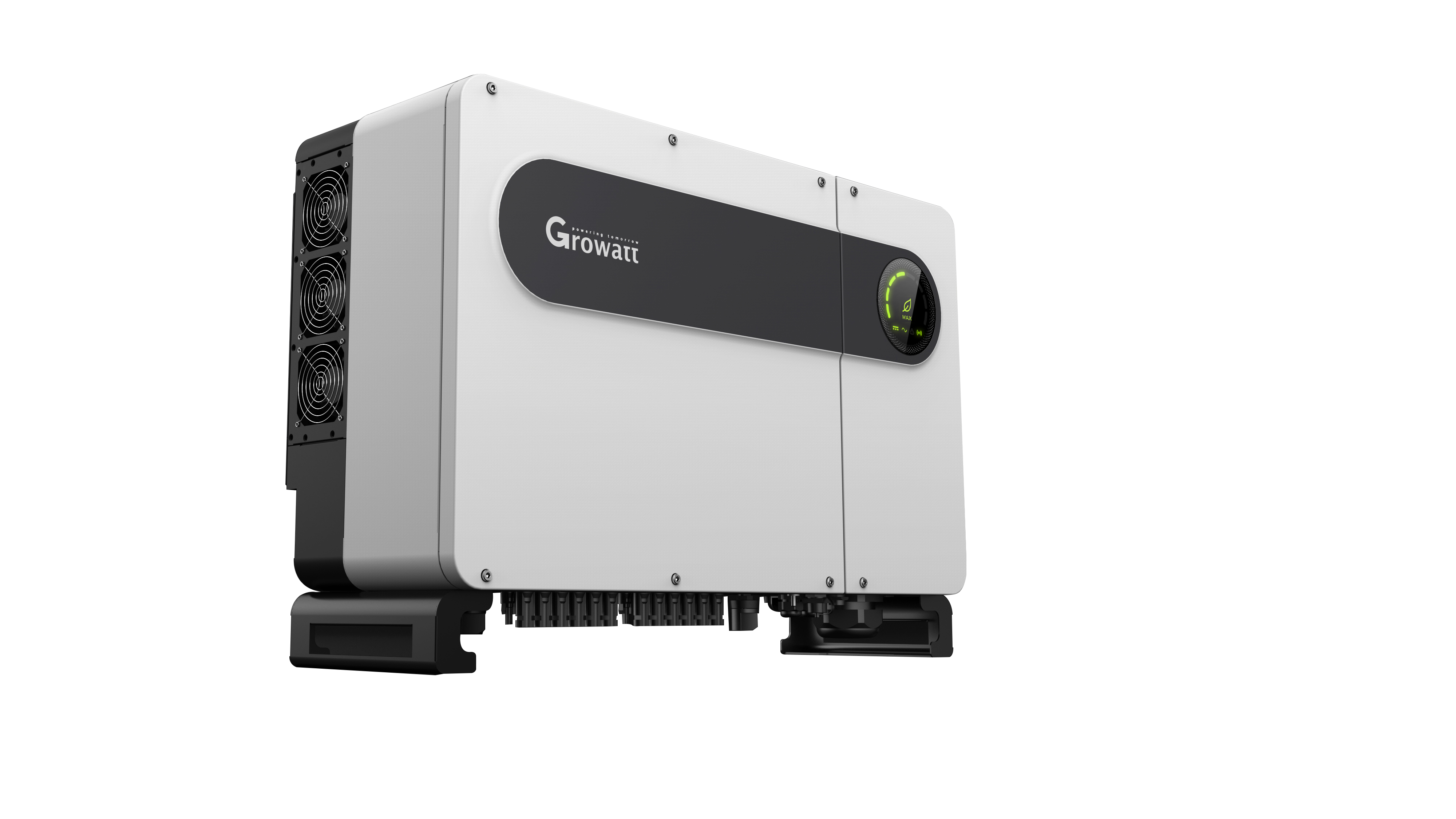 Growatt has introduced the MAX 50-80KTL3-LV/MV series string inverters that are equipped with 6 MPPTs, enabling more flexible string configuration and less string mismatch loss for commercial rooftop installs with shading issues. Image: Growatt