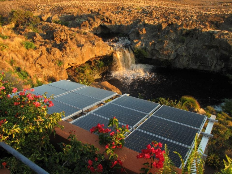 Small-scale solar-plus-storage in Hawaii. Aggressive renewables goals and the high cost of imported diesel have seen solar-plus-storage at all scales in Hawaii. Image: Renewable Energy Services.