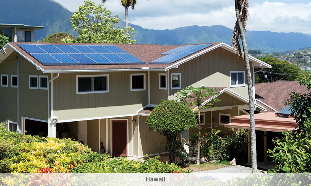 An existing solar system in Hawaii. Image: SolarCity.