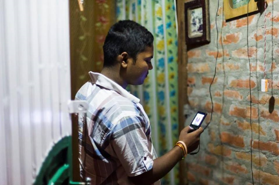 Bihar-headquartered Husk Power uses smart metering and 'pay-as-you-go' by mobile phone to enable rural electricity access. Image: Husk Facebook page.