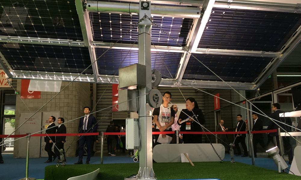 BIG SUN Group has recently synergized its dual axis iPV tracker with a bifacial module resulting in up to a 100% power generation gain over a conventional fixed tilt system, according to the company.