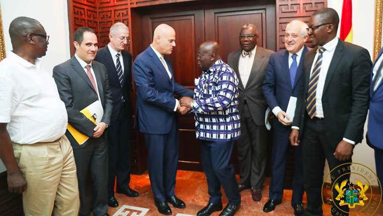 The President of the Republic of Ghana, Nana Addo Dankwa Akufo-Addo, met with Eni CEO Claudio Descalzi back on Nov. 3. Image: Eni