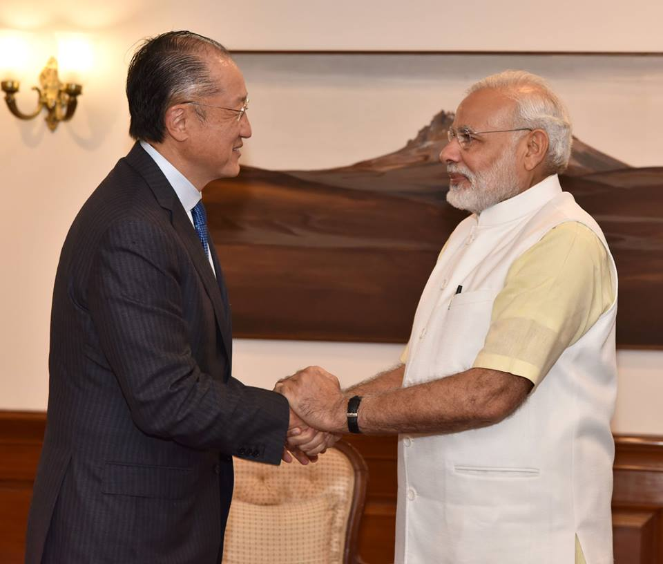 Jim Yong Kim and India's prime minister, Narendra Modi met today to sign the historic agreements. Source: World Bank Group