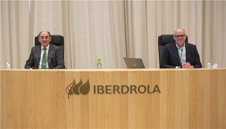 Ignacio Galán, chairman of Iberdrola, and Julián Martínez-Simancas, secretary